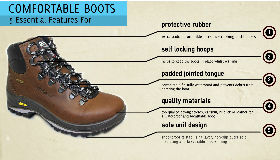 comfortable walking boots