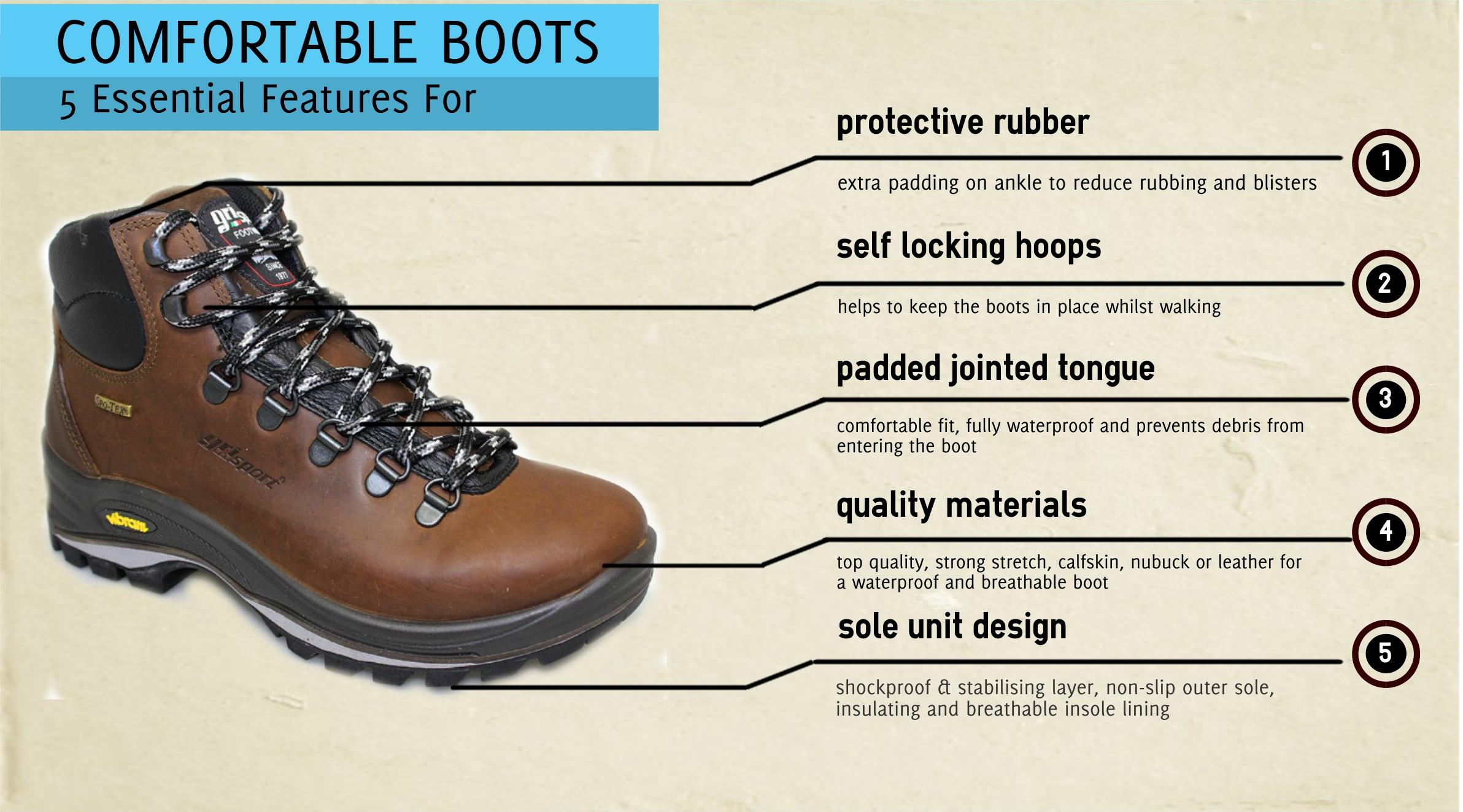 Comfortable Walking Boots - Cherry Tree