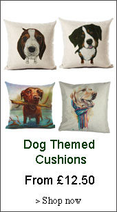 dog themed cushions