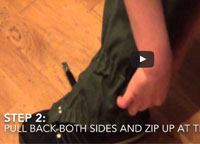 easy way to put on gaiters